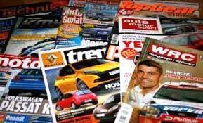 Kolorowe czasopisma motoryzacyjne
