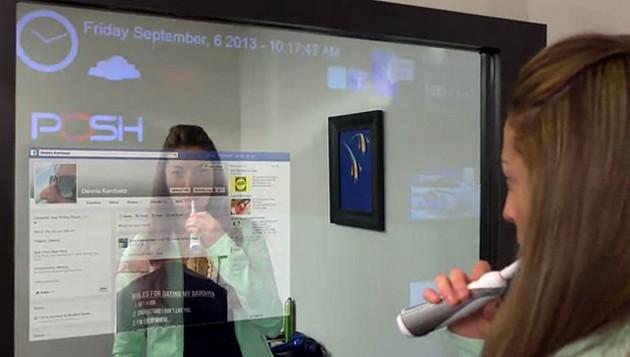iMirror – wielki lustrzany ekran dotykowy