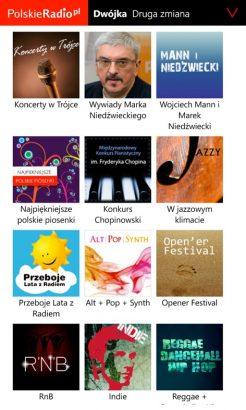 Aplikacja Polskie Radio na Windows Phone